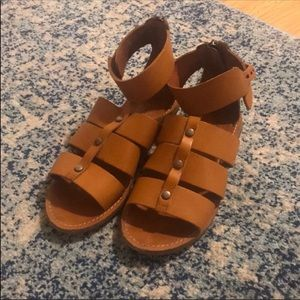 Madewell gladiator leather sandals sz 8